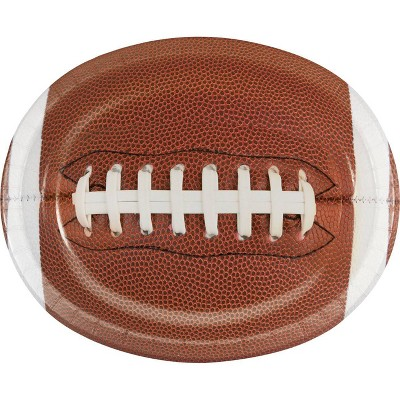 8ct Touchdown Time Oval Plates Brown