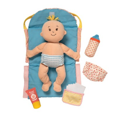 "Manhattan Toy Stella Collection 11-Piece Baby Doll Diaper Bag Changing Mat Combo Set for 12"" and 15"" Soft Dolls"