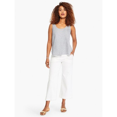 NIC+ZOE Women's All Day Slim Wide Crop Pant Paper White