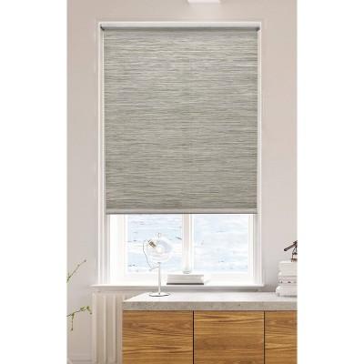 """54"""" x72"""" Light Filtering Natural Roller Shade Gray - Lumi"""