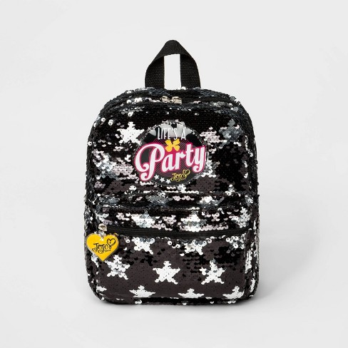 Girls' JoJo Siwa Party Backpack - Black/Silver - image 1 of 3