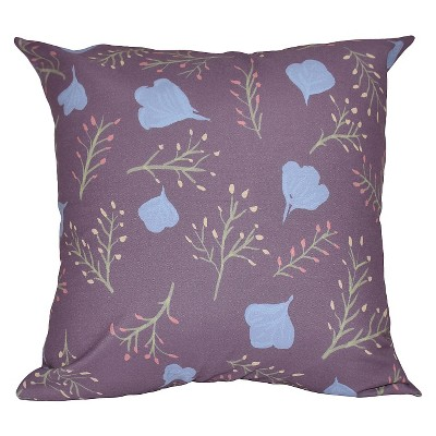 Spring Blooms Floral Print Throw Pillow - E by Design
