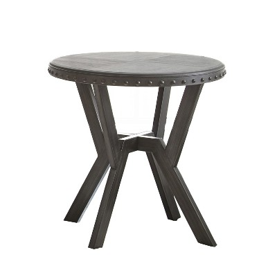 Alamo Round End Table Gray - Steve Silver