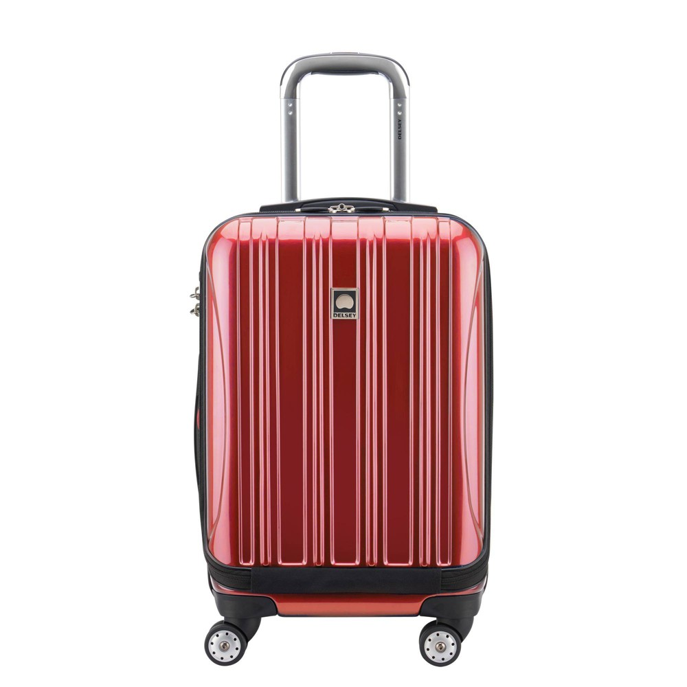"Image of ""DELSEY Paris Aero 19"""" Carry On Spinner Suitcase - Red"""