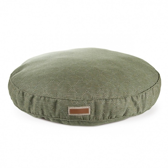 The Houndry Round Pet Bed In Sunbrella Mossy Mutt : Target