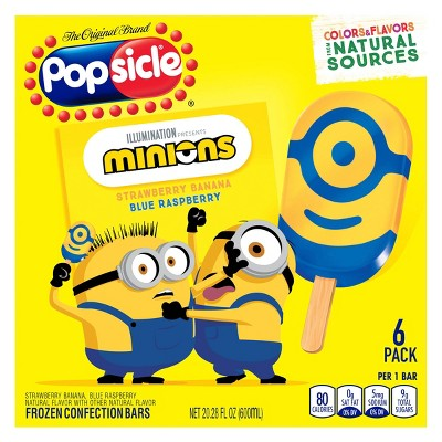Popsicle Minions Frozen Bars - 6ct