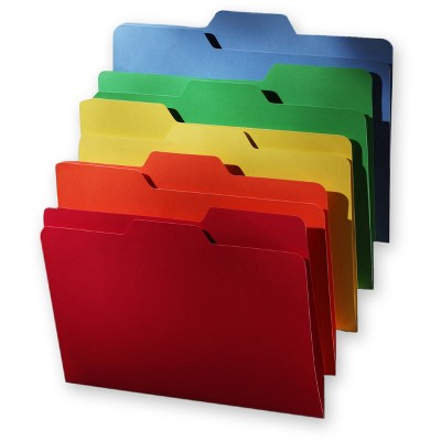 Find It All Tab File Folders, Letter Size, 80ct - Multicolor