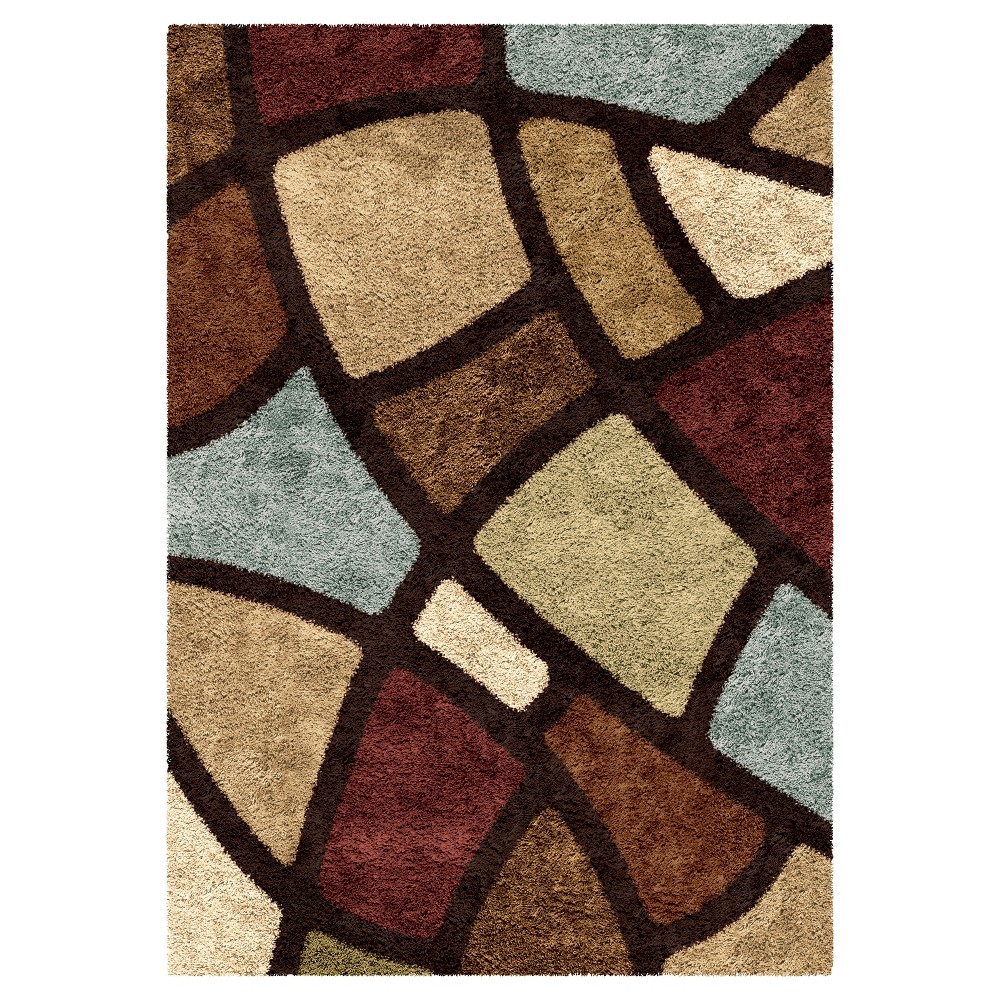 Brown Solid Woven Area Rug - (5'3