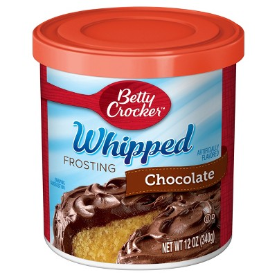 Frosting & Decorations: Betty Crocker Whipped Chocolate Frosting