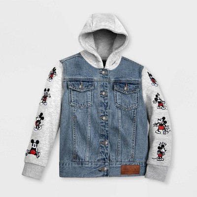 Boys' Mickey Mouse Denim Hooded Jacket - Blue - Disney Store
