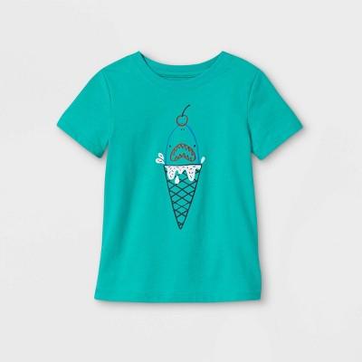 Toddler Boys' Shark Ice Cream Graphic Short Sleeve T-Shirt - Cat & Jack™ Green