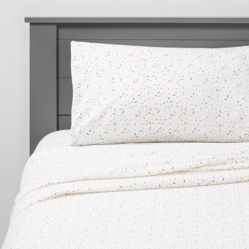Sprinkle Social Flannel Sheets Pillowfort Target