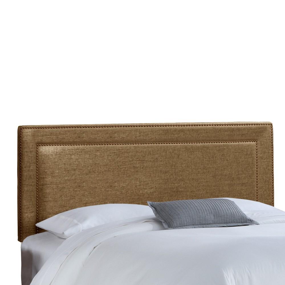 California King Fremont Nail Button Border Headboard Praline - Skyline Furniture