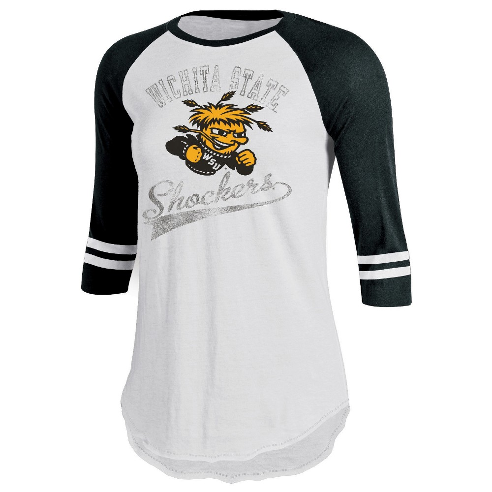 Wichita State Shockers Women's Retro Tailgate White/3/4 Sleeve T-Shirt M, Multicolored