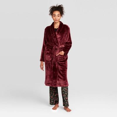 Women's Cozy Plush Robe - Stars Above™ Burgundy XS/S