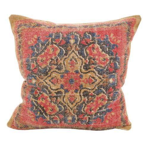 Boho Mosaic Down Filled Throw Pillow