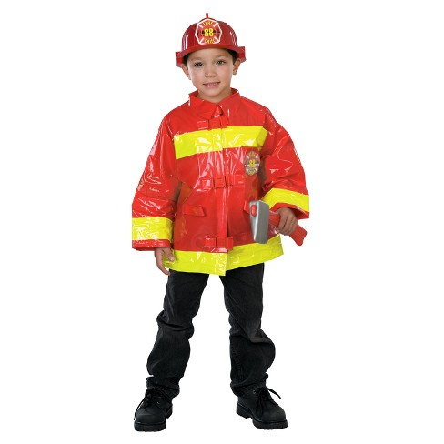 Kids' Firefighter Costume Red One Size Fits Most - image 1 of 1
