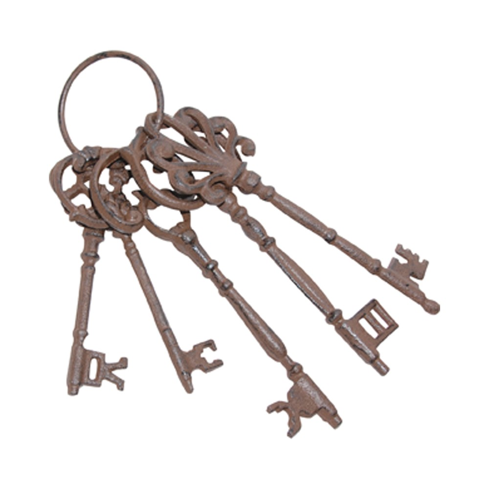 10 Halloween Iron Key Ring With Keys, Multi-Colored