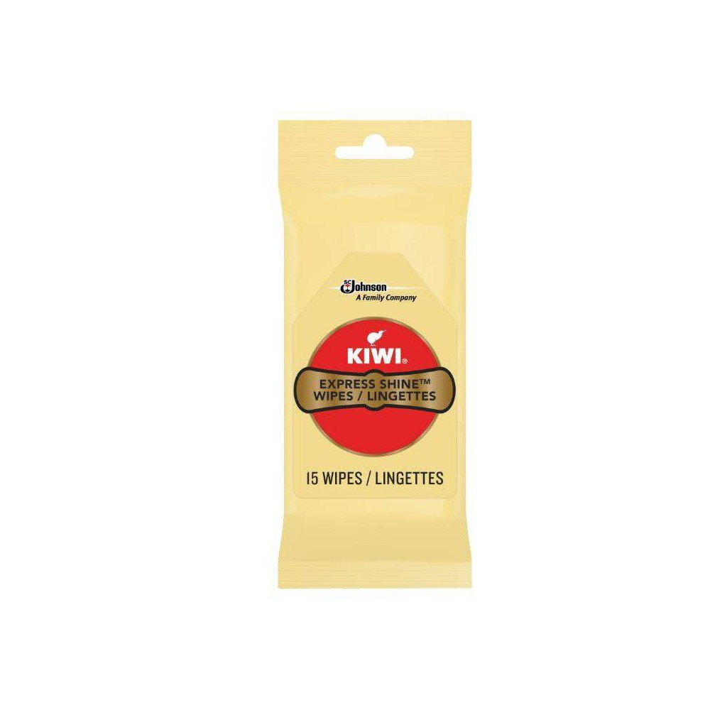 Image of KIWI Express Clean and Shine Wipes 15ct, Adult Unisex, Clear