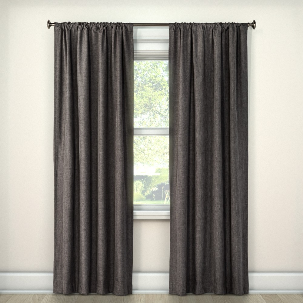 Lightblocking Curtain Panel Charcoal (Grey) (42