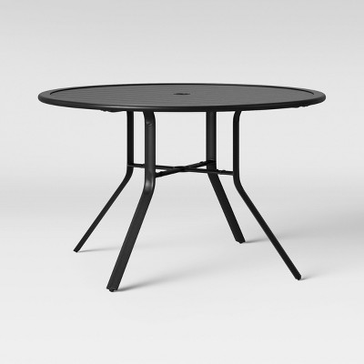 Round outdoor metal table Patio Furniture Target Avalon 48