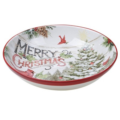 128oz Earthenware Evergreen Christmas Serving Bowl - Certified International