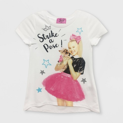 Girls' JoJo Siwa Short Sleeve T-Shirt - White - image 1 of 1