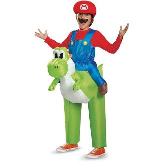 Kids' Super Mario Riding Yoshi Inflatable Halloween Costume One Size