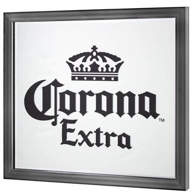 Corona Extra Screen Printed Mirror White/Black - Crystal Art Gallery