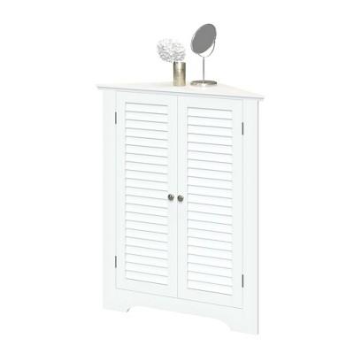 Ellsworth Two Door Corner Cabinet with Shutter Doors White - RiverRidge Home