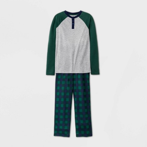 Boys' 2pc Henley Pajama Set - Cat & Jack™ Gray : Target