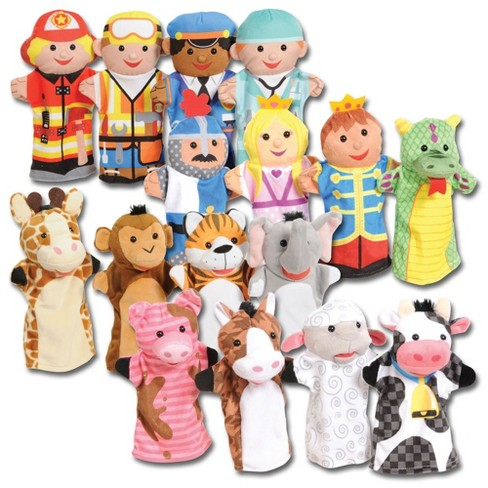 Kaplan Early Learning Classroom Puppet Pals Set  - Set of 16 - image 1 of 4