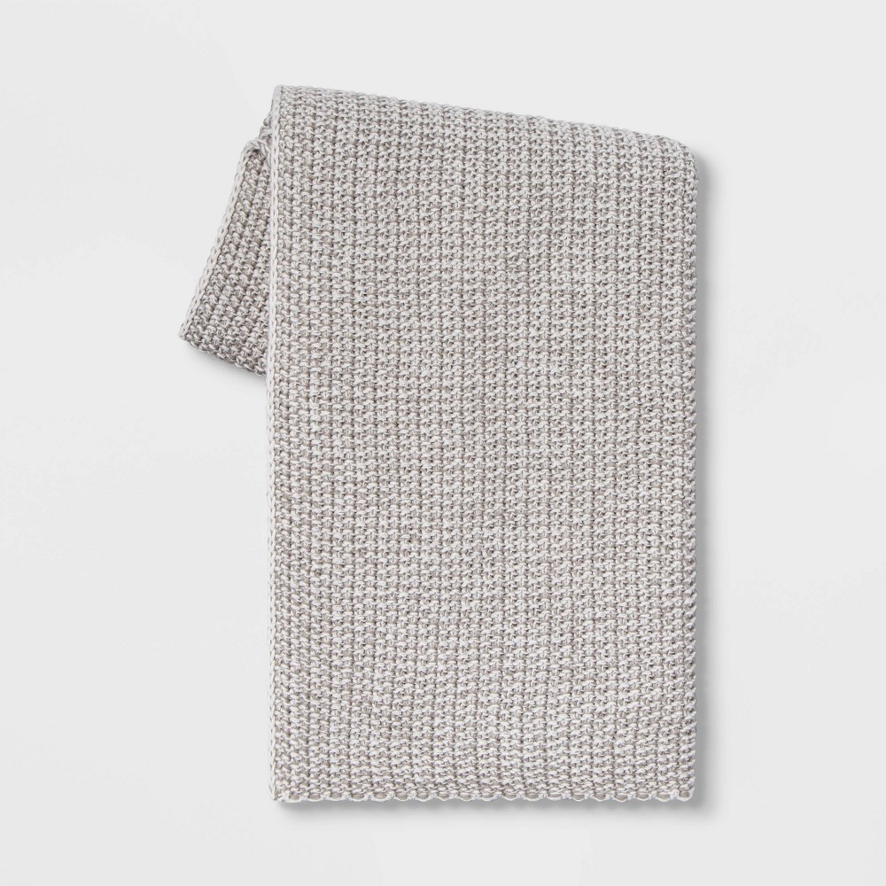 Heathered Knit Throw Threshold 8482