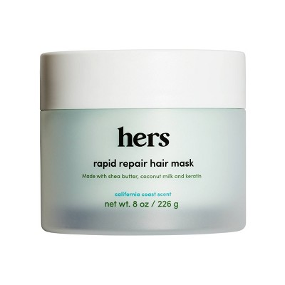 hers Hydrating Rapid Repair Hair Mask with Coconut Oil, Keratin & Shea Butter - 8oz