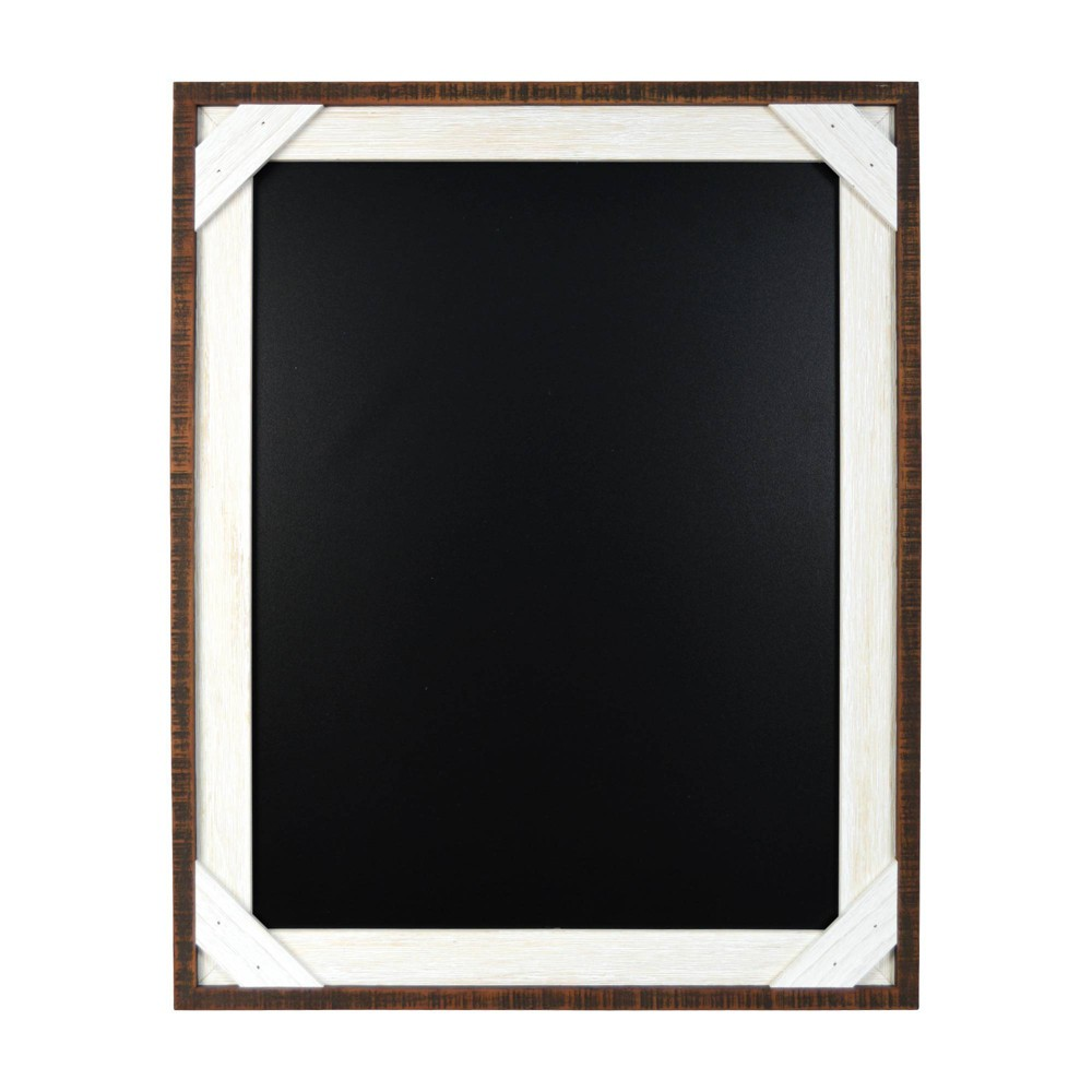 "Image of ""16"""" x 20"""" Reclaimed Crosshatch Wood Calendar Frame Brown - Prinz"""