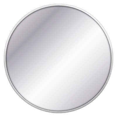 "28"" Round Decorative Wall Mirror Silver - Project 62™"