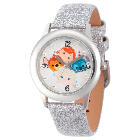 Girls' Disney Tsum Tsum Watch - Silver - image 1 of 2
