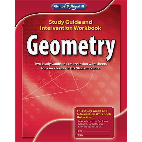Geometry, Study Guide and Intervention Workbook - (Merrill Geometry) (Paperback) - image 1 of 1