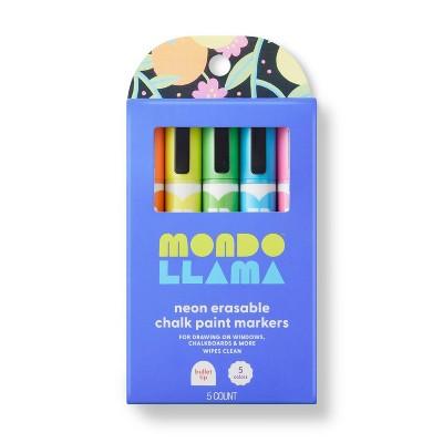 5ct Erasable Chalk Paint Markers Bullet Tip Neon - Mondo Llama™