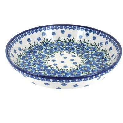 Blue Rose Polish Pottery Kalina Pie Plate