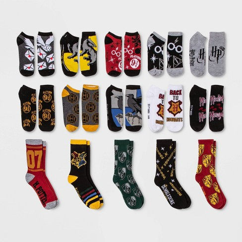 Women's Harry Potter Hogwarts Crest 15 Days of Socks Advent Calendar - Assorted Colors One Size - image 1 of 3
