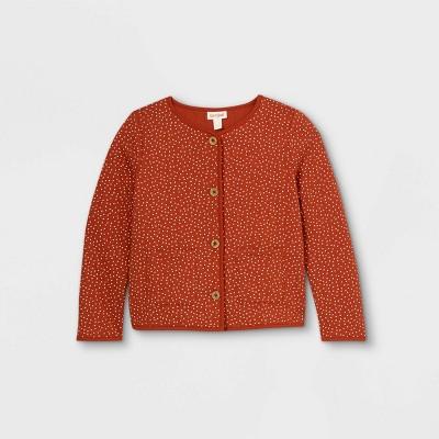 Girls' Polka Dots Quilted Long Sleeve Jacket - Cat & Jack™ Orange