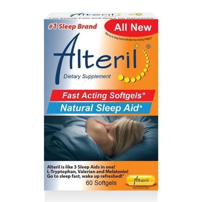 Alteril Fast Acting Natural Sleep Aid Softgels - Melatonin - 60ct