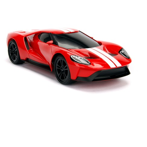 Hyperchargers Big Time Muscle Radio Control Rc Vehicle  Ford Gt  Red Target