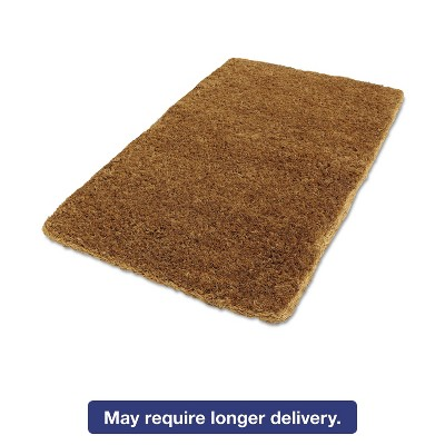 "1'8""x3' Rectangle Solid Floor Mat Brown - Anchor Brand"
