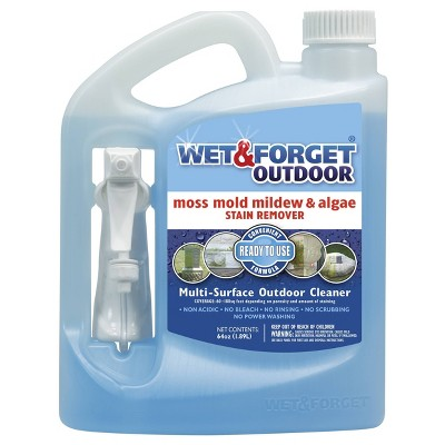 Wet & Forget Multi-Surface Outdoor Cleaner Ready to Use - 64oz