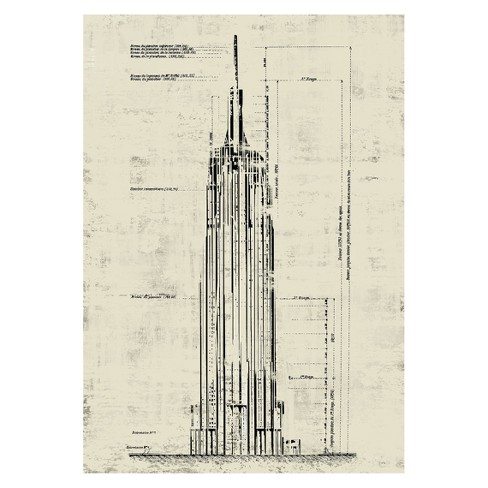 Empire State Building Wall Art - Crème - image 1 of 3