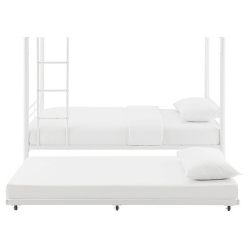 Twin Roll - Out Trundle Bed Frame - White - Walker Edison : Target