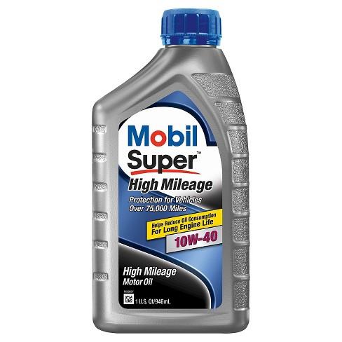 mobil super high mileage motor oil 10w 40 1 quart target. Black Bedroom Furniture Sets. Home Design Ideas