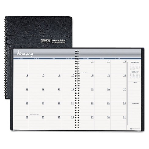 House of Doolittle™ Ruled Monthly Planner w/Expense Log, 6 7/8 x 8 3/4, Black, 2016-2018 - image 1 of 1